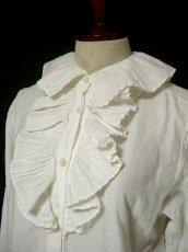 画像4: 大きめフリル襟がとってもキュート イタリア製 ヨーロッパ古着 ヴィンテージホワイトブラウス 【1326】 (4)