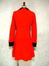 画像3: ヨーロッパ古着 お花刺繍がキュート!!大人かわいい♪Aラインレトロワンピース 赤×黒 (3)