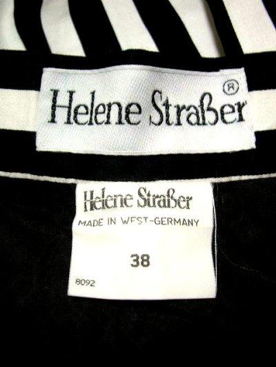 画像1: 西ドイツ製ヴィンテージ 刺繍×モノクロストライプ HeleneStraBer チロルスカート ドイツ民族衣装 舞台 演劇 演奏会 フォークダンス オクトーバーフェスト 【1477】