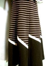 画像5: ヨーロッパヴィンテージ×シルエット×デザインが最高×1着で個性的に×タイ取り外しOK×レトロワンピース (5)