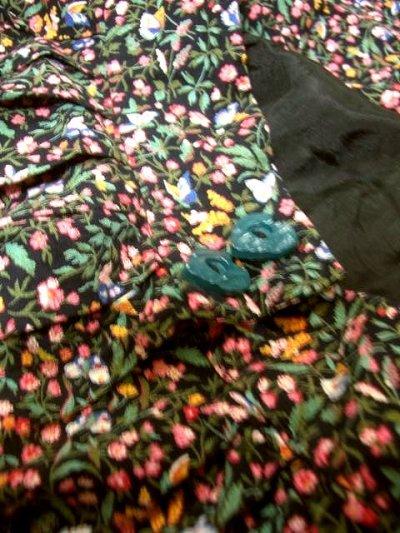 画像2: チロルスカート 花柄 ハートボタン レース リボンテープ 古着