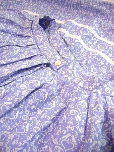 画像3: 小鳥×ハート柄☆裾はチェック柄 チロルスカート ドイツ民族衣装 舞台 演劇 演奏会 フォークダンス オクトーバーフェスト 【1788】