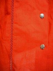 画像5: ハート×花模様のコンチョボタン レッド ディアンドル チロルブラウス ドイツ民族衣装 舞台 演奏会 フォークダンス オクトーバーフェスト 【1998】 (5)