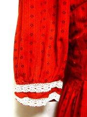 画像4: 小花レース柄がカワイイ!!ホワイトレース装飾 ディアンドル チロルワンピース ドイツ民族衣装 舞台 演奏会 フォークダンス オクトーバーフェスト 【2089】 (4)