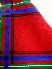 画像5: 70'sヴィンテージ×フリル×チェック柄×シルエット×乙女デザインが素敵なアンティークドレス×プレタポルテブランドHANAIYUKIKO (5)
