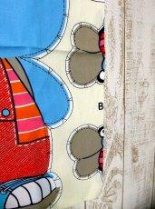 画像4: 70'sDead Stock Fabric タペストリー5 チェック×ボーダー【2367】 (4)