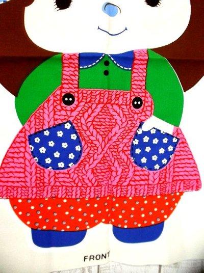 画像3: 70'sDead Stock Fabric タペストリー2 女の子【2366】