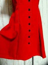 画像4: ヨーロッパ古着 刺繍がとびきり素敵!! 紺×白ステッチ入り!!こだわりあり!!前開き可能ヨーロピアンヴィンテージワンピース (4)