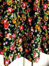 画像5: ☆ ヨーロッパヴィンテージ お花畑のようなアンティークフラワープリント柄♪乙女ガーリーフレアスカート ☆ (5)