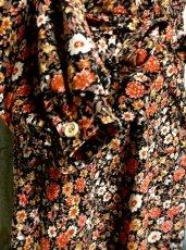 画像5: ヨーロッパ古着 首元・ウエストリボンで可愛く♪小花柄 大人レトロガーリーヴィンテージワンピース (5)