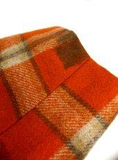 画像5: ヴィンテージジャケット ヨーロッパ古着 チェック柄×オレンジカラーが可愛い♪こだわり大きめレトロボタン装飾 (5)
