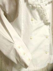 画像4: 大きなお花レース襟が可愛い ホワイト ディアンドル チロルブラウス ドイツ民族衣装 舞台 演奏会 フォークダンス オクトーバーフェスト【2759】 (4)