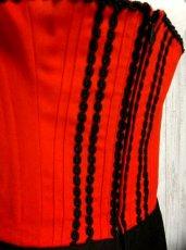 画像4: リボンテープ装飾 大人レトロクラシカル キレイなシルエットライン ディアンドル チロルワンピース ドイツ民族衣装 舞台 演奏会 フォークダンス オクトーバーフェスト 【1437】 (4)