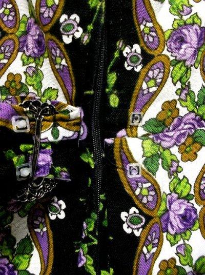 画像2: 薔薇柄×ウエストにバックルリボン 大人の雰囲気 ディアンドル チロルワンピース ドイツ民族衣装 舞台 演奏会 フォークダンス オクトーバーフェスト 【1632】