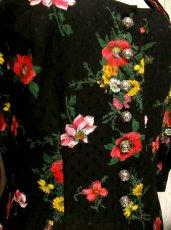 画像4: アンティークフラワー柄 めずらしく魅力的 ディアンドル チロルワンピース ドイツ民族衣装 舞台 演奏会 フォークダンス オクトーバーフェスト 【1368】 (4)