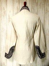 画像3: 刺繍入り めずらしいデザイン ヨーロッパ古着 大人フォークロアスタイル ヴィンテージスモックブラウス【2766】 (3)