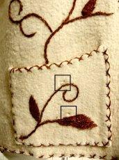 画像4: ☆ ヨーロッパ古着 見事なフラワー刺繍♪ステッチも可愛い貴重な逸品☆フォークロアヴィンテージベスト ☆ (4)