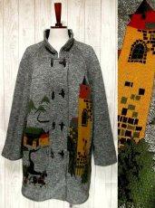 画像1: ☆ 馬車・お城模様編みが可愛すぎる♪デザインが魅力的★レトロフォークロア インポート上質コート ☆ (1)