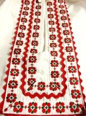 画像3: 刺繍×リボン装飾が可愛すぎる 大人の可愛さが沢山 めずらしいデザイン ヨーロッパ古着 ヴィンテージ長袖スモックブラウス【2969】 (3)