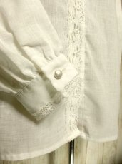 画像3: レース付き大きな襟が可愛い ナチュラルガーリー ホワイト ディアンドル チロルブラウス ドイツ民族衣装 舞台 演奏会 フォークダンス オクトーバーフェスト【2918】 (3)