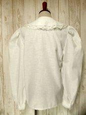 画像4: レース付き大きな襟が可愛い ナチュラルガーリー ホワイト ディアンドル チロルブラウス ドイツ民族衣装 舞台 演奏会 フォークダンス オクトーバーフェスト【2918】 (4)