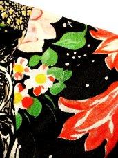 画像5: USA古着 レトロPOPサイケフラワー★ドット×アンティークレース柄が魅力的ー!!バルーン袖も可愛い♪レトロサイケヴィンテージドレス (5)