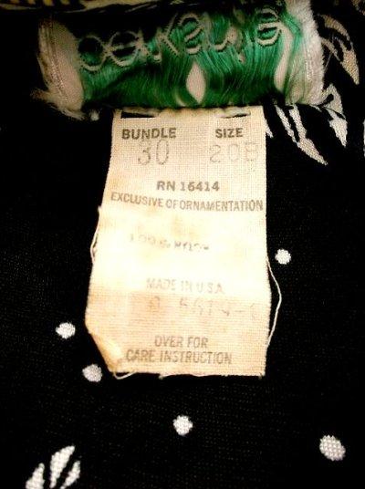 画像3: USA古着 レトロPOPサイケフラワー★ドット×アンティークレース柄が魅力的ー!!バルーン袖も可愛い♪レトロサイケヴィンテージドレス