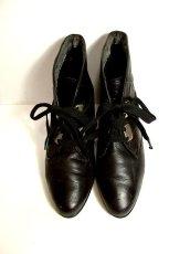 画像2: ☆ ヨーロッパ古着 ショートブーツ12 Black ☆ (2)