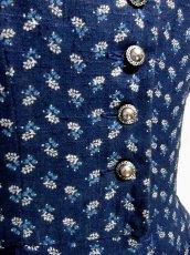 画像4: ネイビー×小花柄が可愛い ディアンドル チロルワンピース ドイツ民族衣装 舞台 演奏会 フォークダンス オクトーバーフェスト 【3170】 (4)