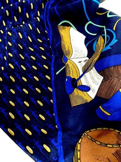 画像3: レトロアンティーク ヴィンテージスカーフ フィンランド Book・女性・人型プリント【3507】
