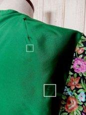 画像5: かぎ針りレース 花柄切り替えし フレア袖 ヨーロッパ古着 長袖 シャツ ヴィンテージブラウス【3546】 (5)