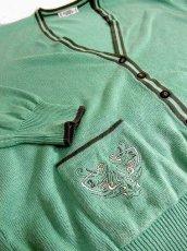 画像3: ☆ヨーロッパ古着 刺繍入り♪西ドイツ製★レトロアンティークカーディガン (3)