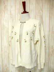 画像2: ☆ ヨーロッパ古着 お花装飾が可愛い♪レトロガーリー☆チロルカーディガン オフホワイト ☆ (2)