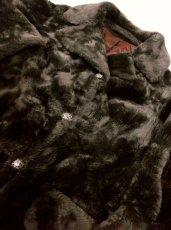 画像5: ☆ USAヴィンテージ 大人レトロクラシカル♪暖かくて超レトロ!!ヴィンテージフェイクファーコート レトロアンティークボタン付き ☆ (5)