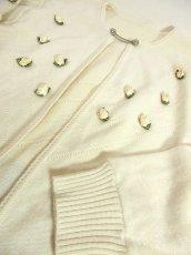 画像5: ☆ ヨーロッパ古着 お花装飾が可愛い♪レトロガーリー☆チロルカーディガン オフホワイト ☆ (5)