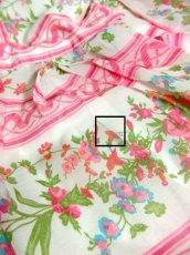画像5: ヨーロッパヴィンテージ ピンク×アンティークフラワー柄♪乙女ガーリーアンティークドレス (5)