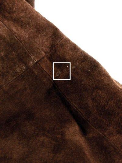 画像2: ☆ 大人カッコイイ×レトロフォークロアstyle♪大きな襟&袖リブがファーがステキ!!綺麗なシルエットラインが素晴らしい 70'sスウェードヴィンテージコート ☆