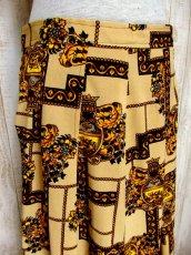 画像5: ☆ ヨーロッパ古着 Italy製!!★クラシカル×レトロアンティークなスカーフ柄が最高に素晴らしーい!!大人クラシカル 上質ヨーロピアンヴィンテージスカート ☆ (5)