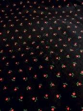 画像5: Blackカラー地にレッド×グリーンカラーの可愛らしいハートモチーフ小花柄が広がる ディアンドル チロルワンピース ドイツ民族衣装 舞台 演奏会 フォークダンス オクトーバーフェスト 【3827】 (5)