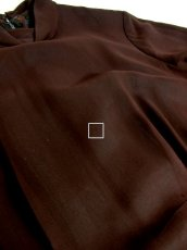 画像4: ヨーロッパ古着 ふんわりボリューム袖♪クラシカル模様切り替えデザイン!!後ろウエストブローチ付き 大人レトロアンティークスタイル♪華やかヴィンテージドレス (4)