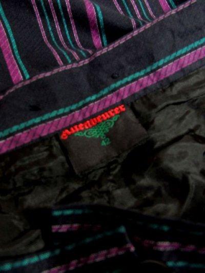 画像3: カルガモ&ハートのウッド調ボタンが可愛い ベロアテープ装飾 ストライプ柄 チロルスカート ドイツ民族衣装 舞台 演劇 演奏会 フォークダンス オクトーバーフェスト 【3613】