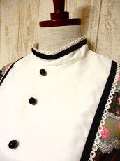 画像3: ヨーロッパ古着 イギリス製★大人可愛い×レトロクラシカル♪Pinkアンティークフラワー☆ベロアテープ・レース装飾♪ふんわりガーリーヨーロピアンヴィンテージドレス (3)