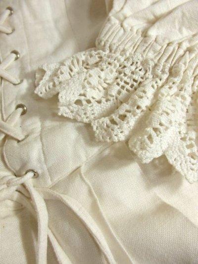 画像3: 大人ガーリー究極の逸品 透かし編みかぎ針りレースクラシカルフォルムが素晴らしい リネン ディアンドル チロルドレス ドイツ民族衣装 舞台 演奏会 フォークダンス オクトーバーフェスト 【4252】