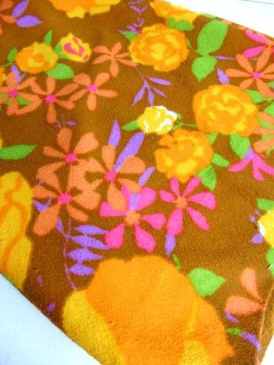 画像3: ヨーロッパ古着 70'sレトロポップ×カラフルフラワープリントが最高ー♪ヴィンテージならではのデザイン!!ワイドパンツ 個性的!!ヴィンテージオールインワン