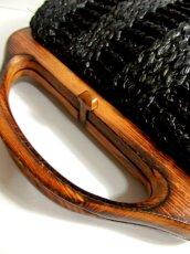 画像4: ウッドハンドル ブラック ころんとしたカタチが可愛らしい レディース レトロ 鞄 バッグ【4224】 (4)