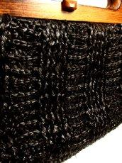 画像3: ウッドハンドル ブラック ころんとしたカタチが可愛らしい レディース レトロ 鞄 バッグ【4224】 (3)