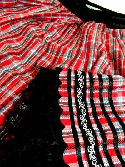 画像2: チロルテープ×リボンテープ装飾 ガーリーなチェック柄プリントがCUTE チロルスカート ドイツ民族衣装 舞台 演劇 演奏会 フォークダンス オクトーバーフェスト 【4271】