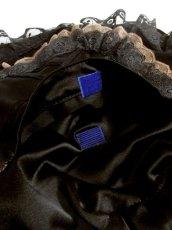 画像7: レース ブラック リボン 持ち手が可愛い ガーリー レディース レトロ 鞄 バッグ【4307】 (7)