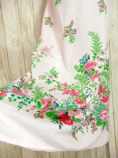 画像2: ヨーロッパ古着×可愛らしいアンティークフラワープリントがCUTE×レース装飾!!乙女アンティークなガーリードレス