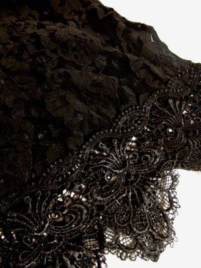 画像2: ヨーロッパ古着 エレガントな総花柄レースデザイン!!さらりと着てお洒落に決まる★クラシカルな ヨーロピアン総レースヴィンテージTOPS
